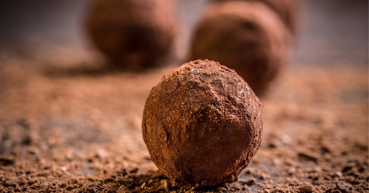 No Bake Dark Chocolate Protein Truffles